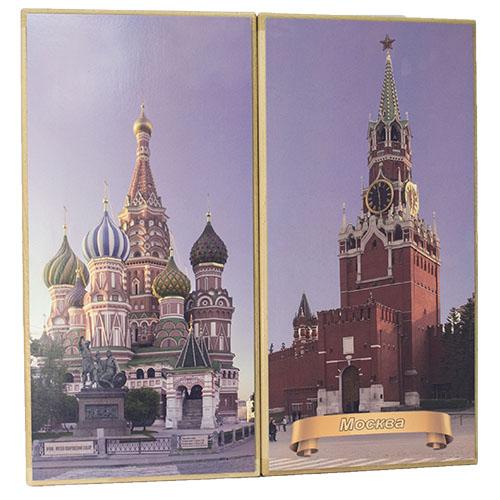 """Описание нарды """"Москва Кремль"""" большие"""