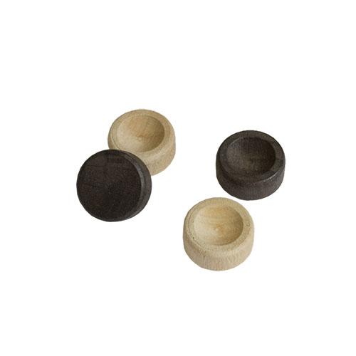 Фишки из бука , диаметр 2.1 см., подклеены тканью