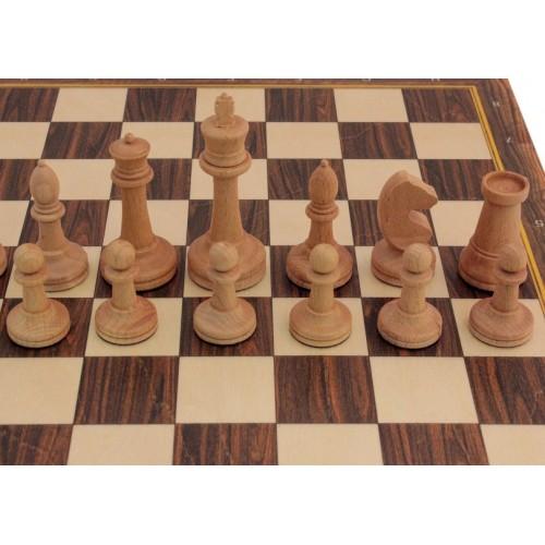 Шахматные фигуры из бука №3 (утяжеленные)