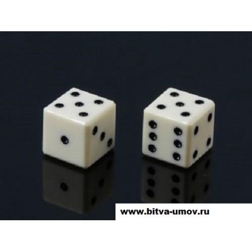 Кубики-зарики из кости 1.3 х 1.3 см