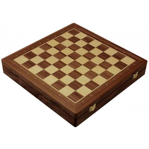 """Шахматная доска ларец """"Орех"""" (43.5 х 43.5 см.)"""