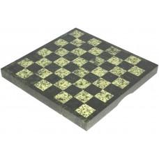 """Шахматная доска """"Змеевик"""" 37.8 х 37.8 см., с чемоданчиком"""